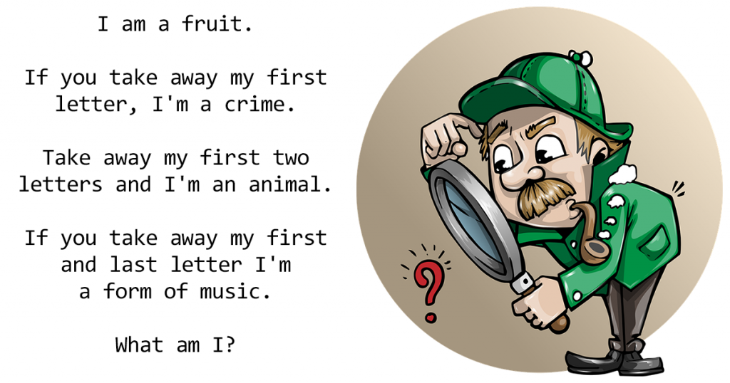 Who solves this hard fruit riddle?