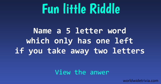 Letter Word But Only Have  Letters