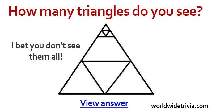 How Many Triangles Do You See In This Image