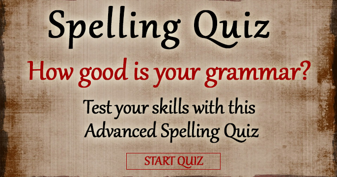 english grammar and spelling quiz