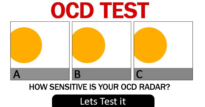 ocd test - how sensitive is your radar?