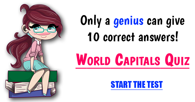 Difficult Quiz - Countries and their capitals