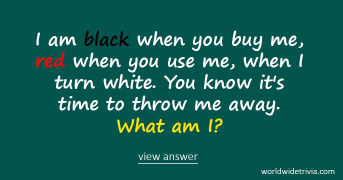 riddle i am black when you buy me red when you. Black Bedroom Furniture Sets. Home Design Ideas