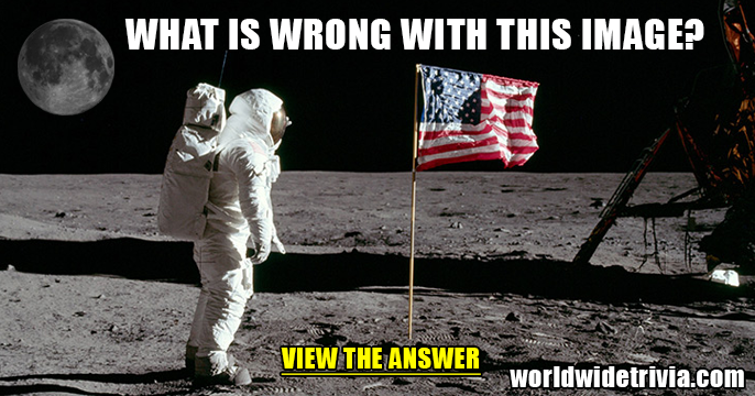 Do you see what's wrong with this moon landing photo