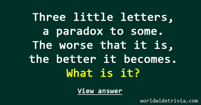 Little Letters A Paradox To Some