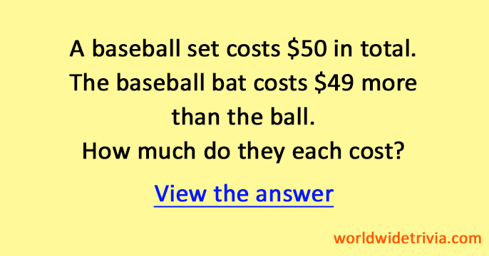 Answer - Difficult math puzzle · World Wide Trivia