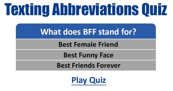 Best text abbreviations
