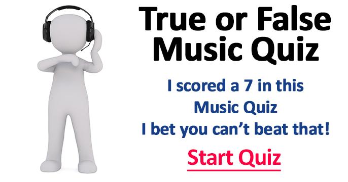 Fun True or False Music Quiz for Music Lovers